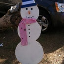 Easy Wooden Christmas Snowman!