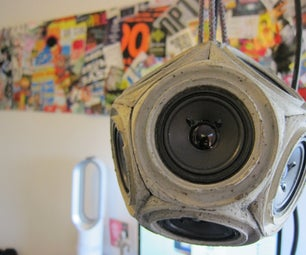 Concrete Dodecahedron Speaker