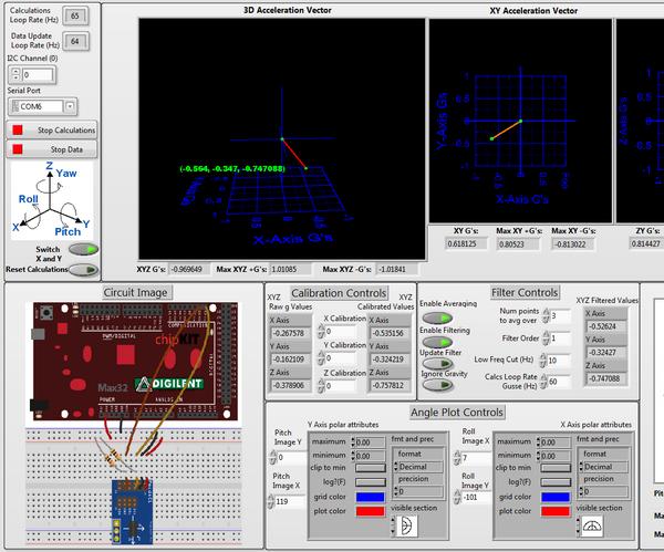 Stationary Accelerometer Tilt Sensor