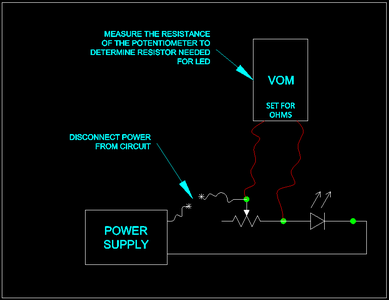 (SIDE LESSON) Selecting a Resistor for an Unknown LED