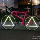 Triangle Wheel Reflectors - Bicycle