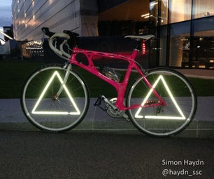 Triangle Wheel Reflectors - Bicycle