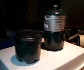 waterproof container from little propane cylinder in 10 minutes