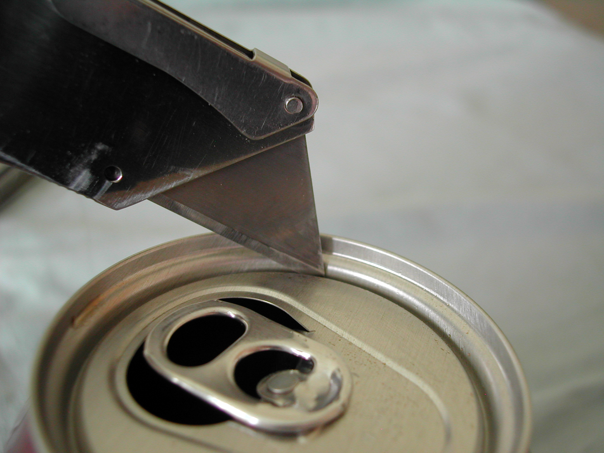 Picture of Cut Out the Top of the Can.