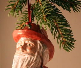 Learning to Make Plaster Molds 1 - Santa Ornament