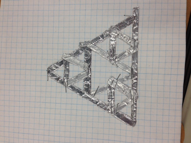 Picture of Constructing the Aluminum Foil Antenna