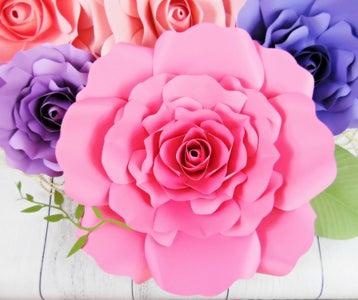 DIY Giant Paper Rose Tutorial (Eden Style Template)