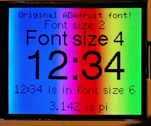 Arduino TFT Display and Font Library