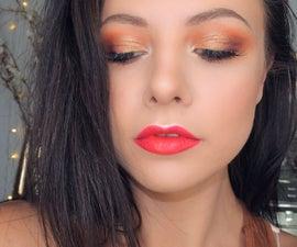 Classic Bronzy Red Lip Makeup Tutorial
