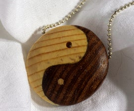 Double Wood Yin Yang Pendant