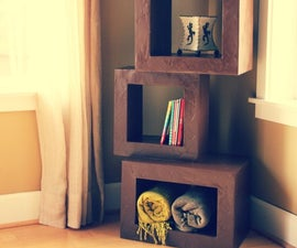The bookshelf in 2 ways... how to recycle used cardboards to create customized furniture!