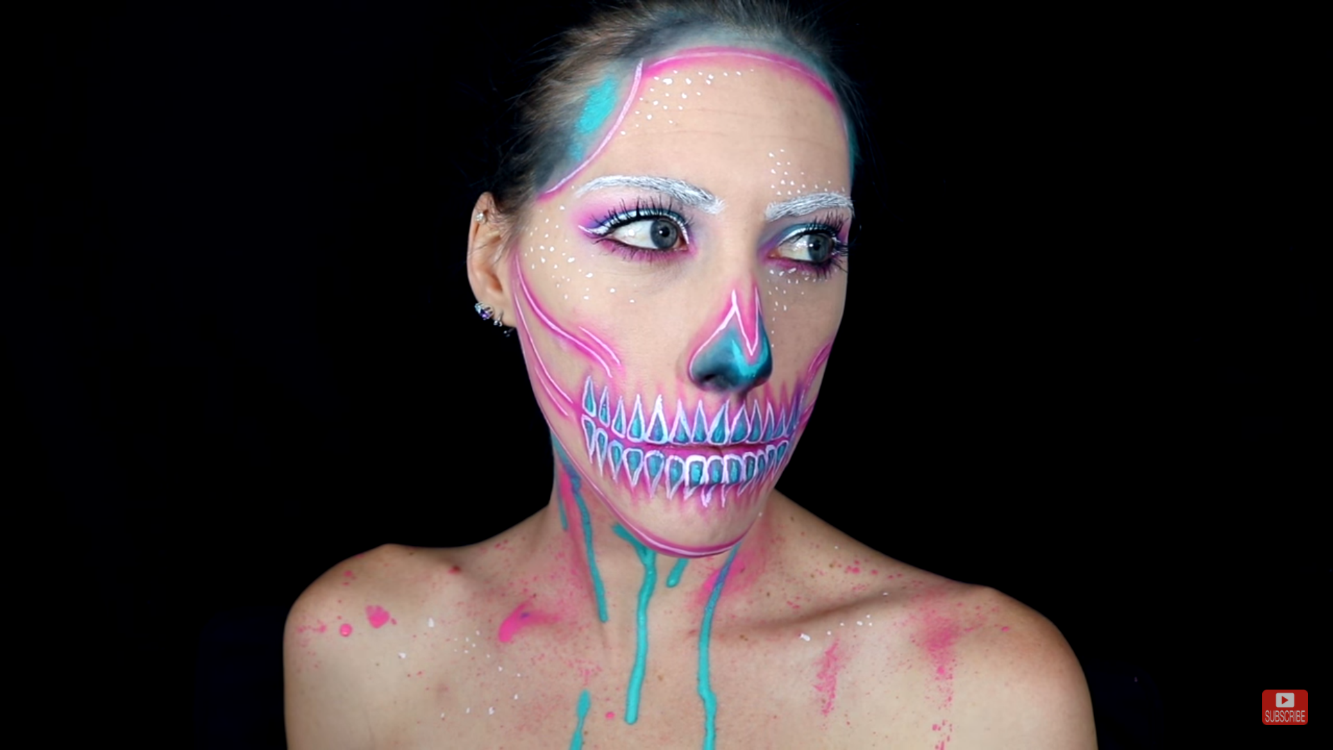 Picture of Neon Skull Body Paint