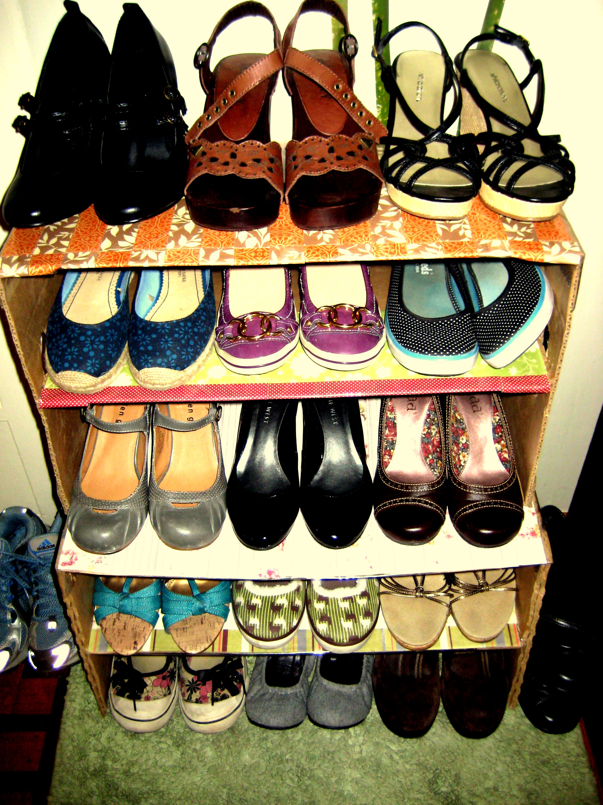 Picture of Organized Shelving = Room for More Shoes!