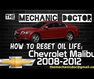 How to Reset Oil Life: Chevrolet Malibu 2008-2012