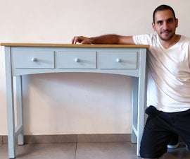 Console Table With 'Fake' Drawers