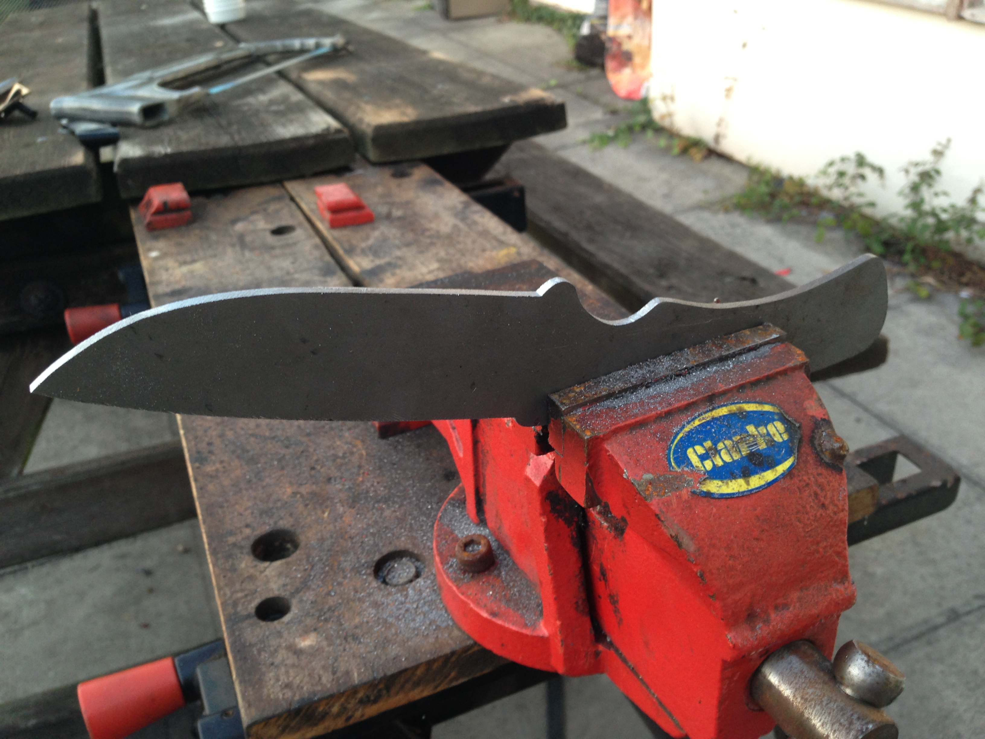 Picture of Cutting and Shaping the Blade Profile