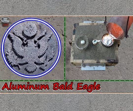 Casting an Aluminum Bald Eagle for the USA Independence Day. the Great Seal
