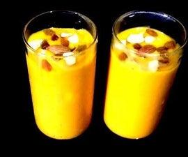 Mango Lassi | Mango Sweetened Buttermilk Mango Yogurt Smoothie | Summer Drink | Sweet Lassi