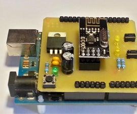Arduino UNO nRF24L01+ Shield