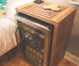 End Table With Built in Fridge