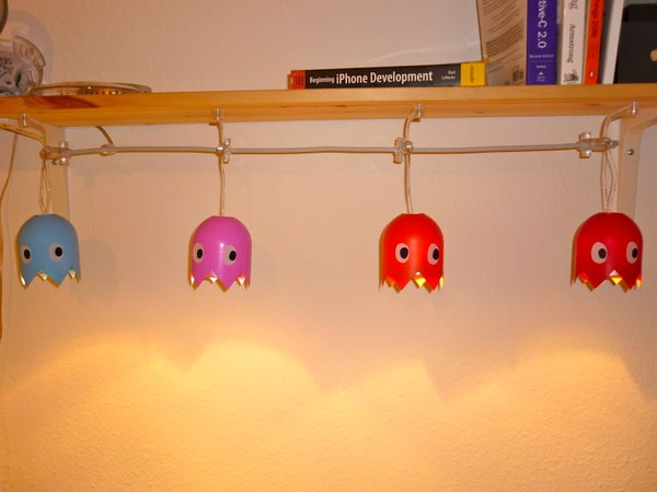 How to Make a Pac-Man Ghost Lamp