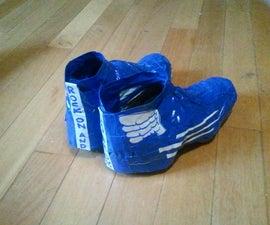 Super fancy water/windproof bike shoe duct tape covers