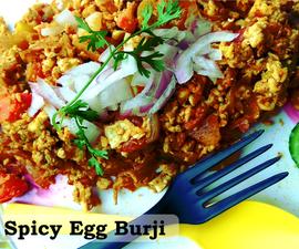 Spicy Egg Burji - Who's Hungry