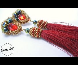 """""""The Red"""" Embroidery Earrings 