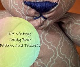 DIY Vintage Teddy Bear (With Pattern)