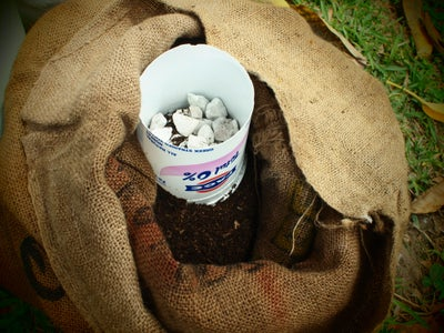 Begin Making the Center Column of Gravel and Fill the Bag
