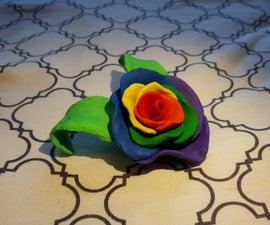 Rainbow clay rose