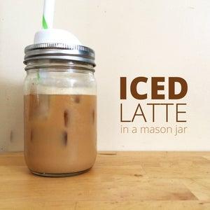 Iced Latte in a Mason Jar