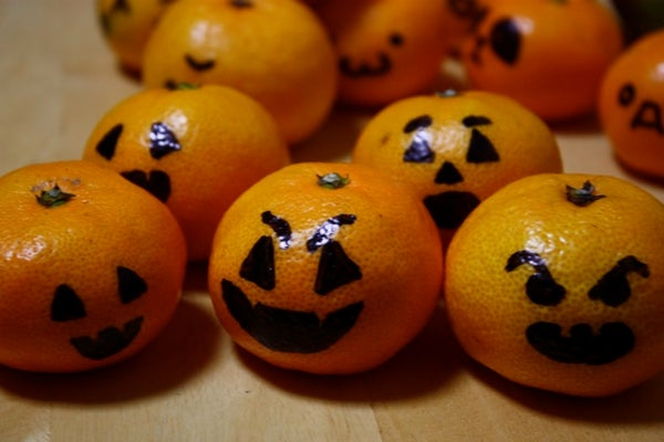 The Instant Mini Jack-o-lantern Army (made of Citrus!)