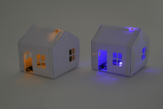Picture of Making a Paper House That Lights Up As It Gets Dark!