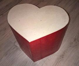 Lovely Cardboard Heart Seat !