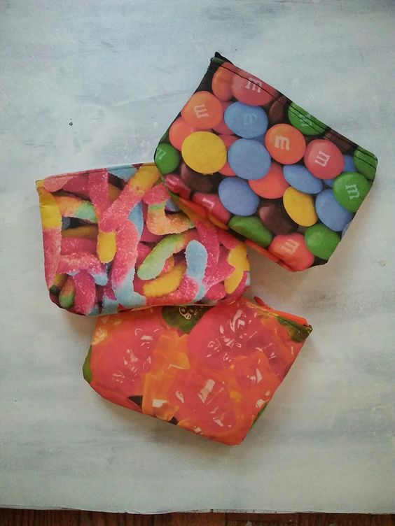 Picture of Rainbow Candy Makeup Bags