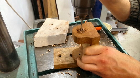 Drill the Holes for the Hinge Pins
