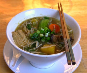 Hearty Mixed Vegetable Noodle Soup - Vegan & Gluten Free