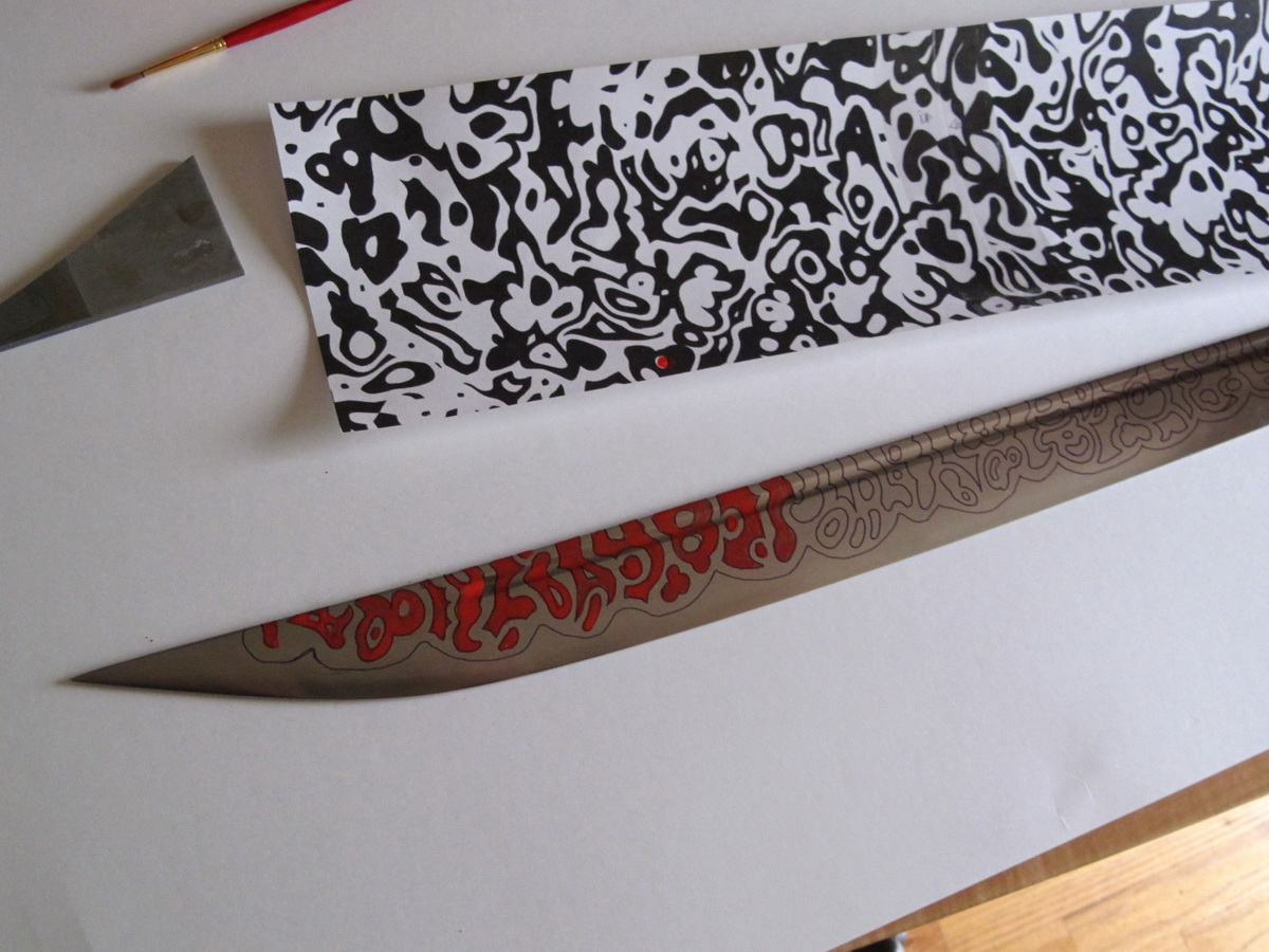 Picture of Etching the Blade
