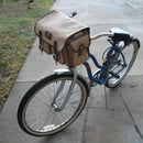 """Old School"" Pimpin' Military Style Bicycle Handlebar Bag - Old Skateboard, Camera Bag and Bicycle Mash Up!"