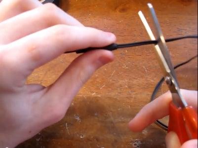 Cut Headphones/Stringing the Paracord