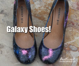 DIY Painted Galaxy Shoes!