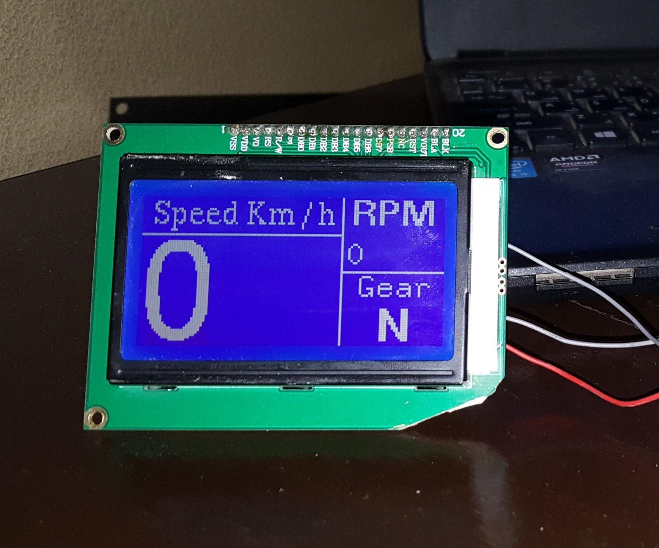 Arduino Bike Speedometer With 128 X 64 Graphics LCD