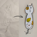 Turn Kids' Drawing Cat Clock Into Reality (with Swinging Tail)