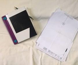 Recycled Printer Paper Sketchbook