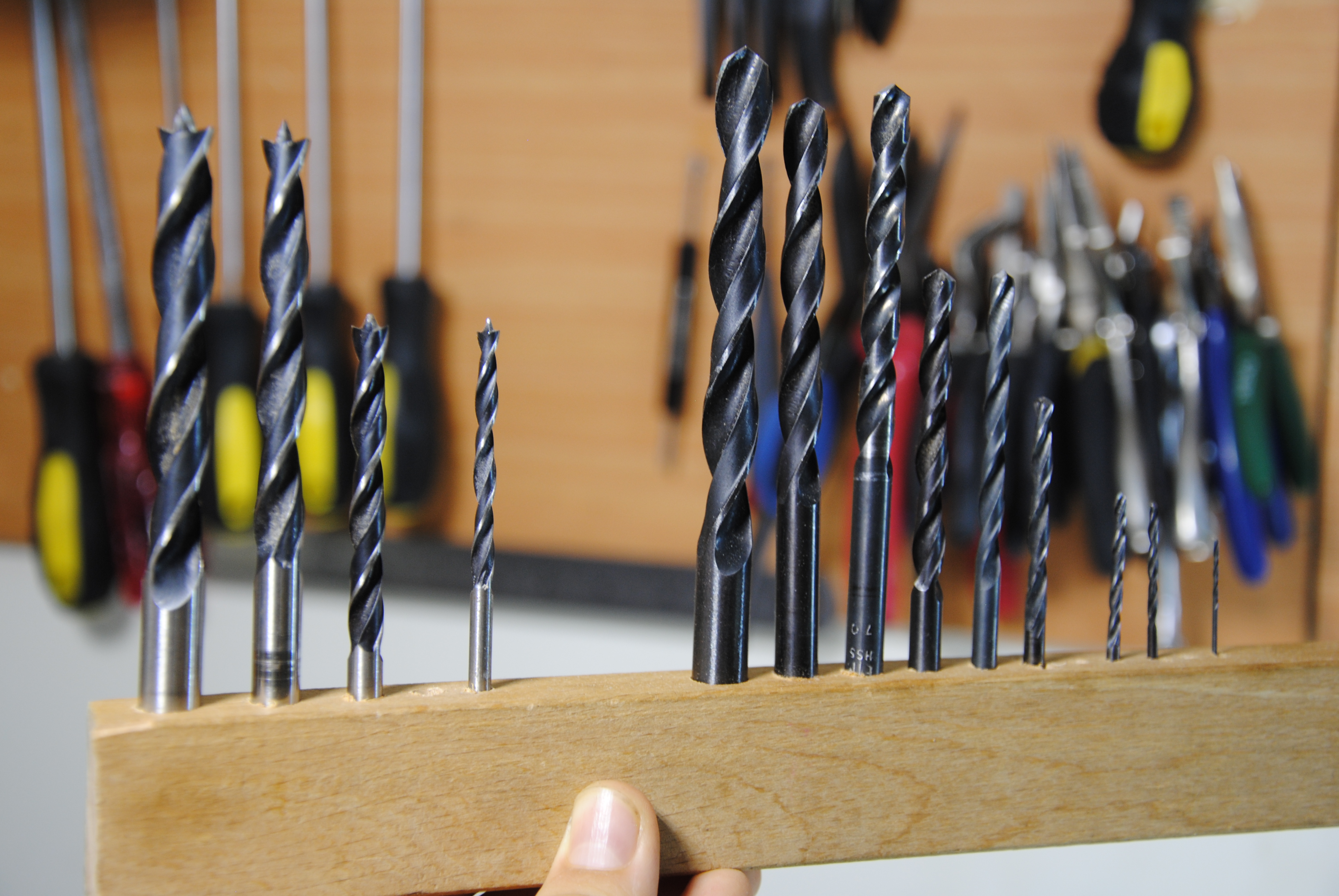 Picture of Holes in Wood! - Drill-Bit Organizer
