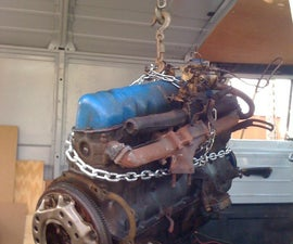 Pulling the Engine from a 1960's Ford Econoline Van