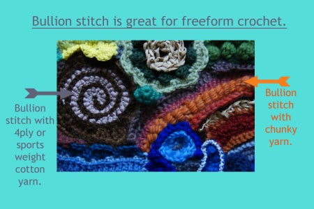 My Modified Hooks for Bullion Stitch: