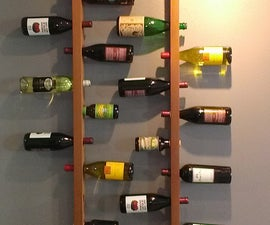 Wall-Mounted Vertical Wood Wine Rack
