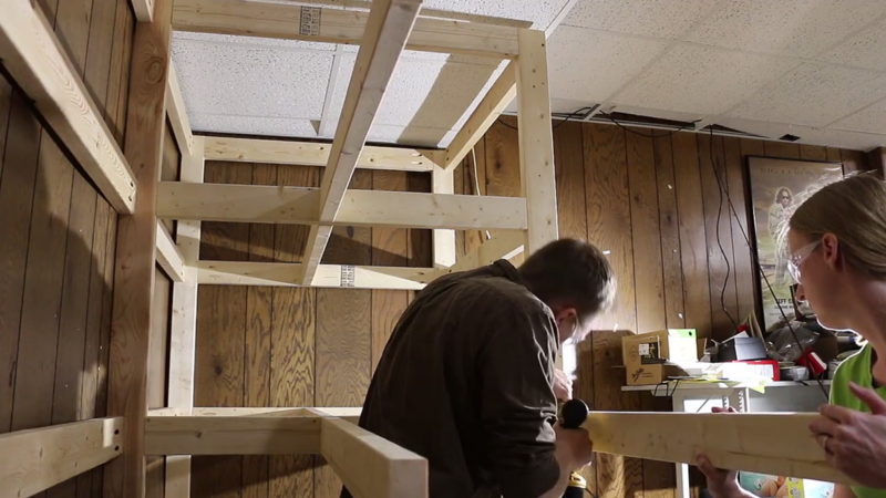 Picture of Building the Shelves